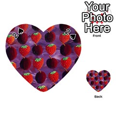 Strawberries And Plums  Playing Cards 54 (Heart)