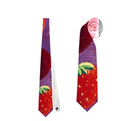 Strawberries And Plums  Neckties (two Side)