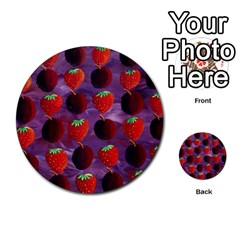 Strawberries And Plums  Multi-purpose Cards (Round)