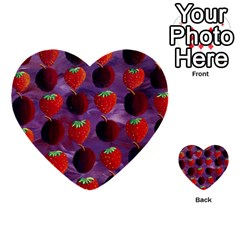 Strawberries And Plums  Multi Purpose Cards (heart)