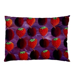 Strawberries And Plums  Pillow Cases