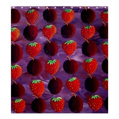 Strawberries And Plums  Shower Curtain 66  x 72  (Large)