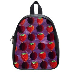 Strawberries And Plums  School Bags (Small)