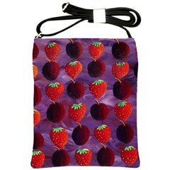 Strawberries And Plums  Shoulder Sling Bags