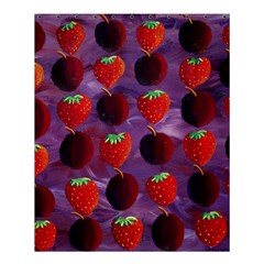 Strawberries And Plums  Shower Curtain 60  X 72  (medium)