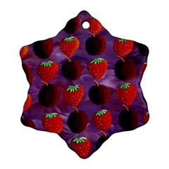 Strawberries And Plums  Snowflake Ornament (2-Side)