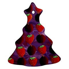 Strawberries And Plums  Christmas Tree Ornament (2 Sides)