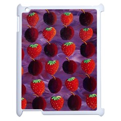Strawberries And Plums  Apple iPad 2 Case (White)
