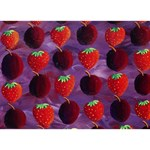 Strawberries And Plums  I Love You 3D Greeting Card (7x5)  Back