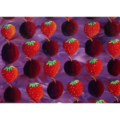 Strawberries And Plums  Birthday Cake 3D Greeting Card (7x5)