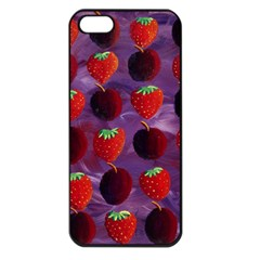 Strawberries And Plums  Apple iPhone 5 Seamless Case (Black)