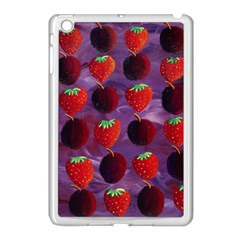 Strawberries And Plums  Apple iPad Mini Case (White)