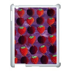 Strawberries And Plums  Apple iPad 3/4 Case (White)