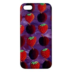 Strawberries And Plums  Apple iPhone 5 Premium Hardshell Case