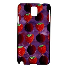 Strawberries And Plums  Samsung Galaxy Note 3 N9005 Hardshell Case