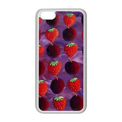 Strawberries And Plums  Apple iPhone 5C Seamless Case (White)