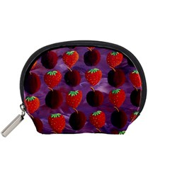 Strawberries And Plums  Accessory Pouches (Small)