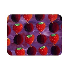Strawberries And Plums  Double Sided Flano Blanket (mini)
