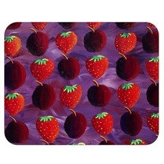 Strawberries And Plums  Double Sided Flano Blanket (Medium)