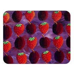 Strawberries And Plums  Double Sided Flano Blanket (Large)