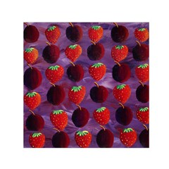 Strawberries And Plums  Small Satin Scarf (square)