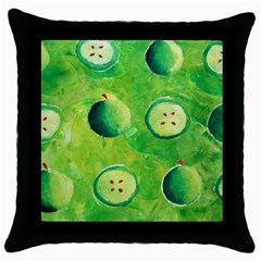 Apples In Halves  Throw Pillow Cases (Black)