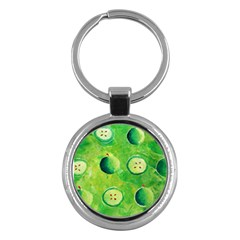 Apples In Halves  Key Chains (Round)