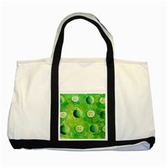 Apples In Halves  Two Tone Tote Bag