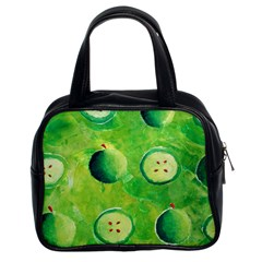 Apples In Halves  Classic Handbags (2 Sides)