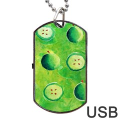 Apples In Halves  Dog Tag Usb Flash (one Side)