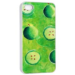 Apples In Halves  Apple Iphone 4/4s Seamless Case (white)