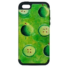 Apples In Halves  Apple iPhone 5 Hardshell Case (PC+Silicone)