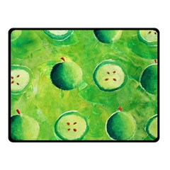 Apples In Halves  Double Sided Fleece Blanket (Small)
