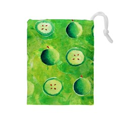Apples In Halves  Drawstring Pouches (Large)