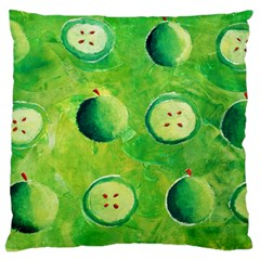 Apples In Halves  Standard Flano Cushion Cases (Two Sides)