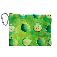 Apples In Halves  Canvas Cosmetic Bag (XL)
