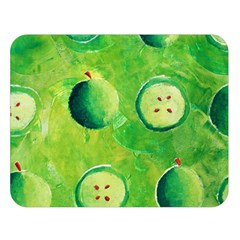 Apples In Halves  Double Sided Flano Blanket (Large)