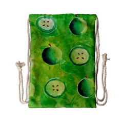 Apples In Halves  Drawstring Bag (Small)