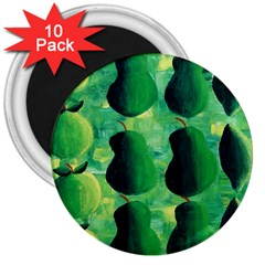 Apples Pears And Limes  3  Magnets (10 pack)