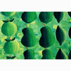 Apples Pears And Limes  Collage 12  X 18