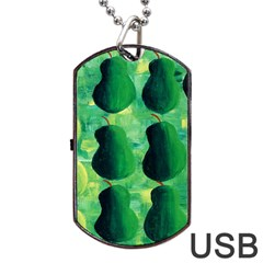 Apples Pears And Limes  Dog Tag USB Flash (Two Sides)