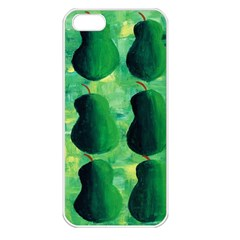 Apples Pears And Limes  Apple iPhone 5 Seamless Case (White)