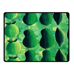 Apples Pears And Limes  Double Sided Fleece Blanket (Small)