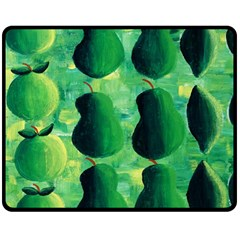 Apples Pears And Limes  Double Sided Fleece Blanket (medium)
