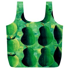 Apples Pears And Limes  Full Print Recycle Bags (L)