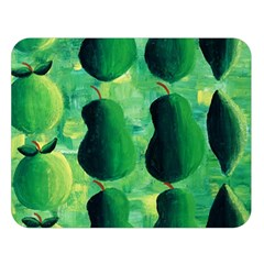 Apples Pears And Limes  Double Sided Flano Blanket (Large)
