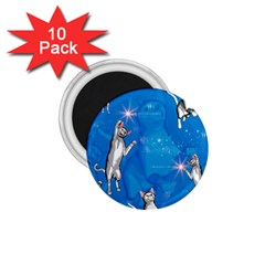Funny, Cute Playing Cats With Stras 1.75  Magnets (10 pack)