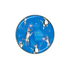 Funny, Cute Playing Cats With Stras Hat Clip Ball Marker (4 pack)