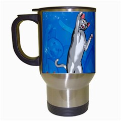 Funny, Cute Playing Cats With Stras Travel Mugs (White)