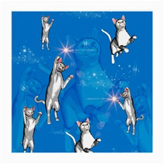 Funny, Cute Playing Cats With Stras Medium Glasses Cloth (2-Side)